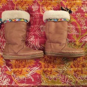 Shoes - Tall boho Ugg-style boots from Laidback London.